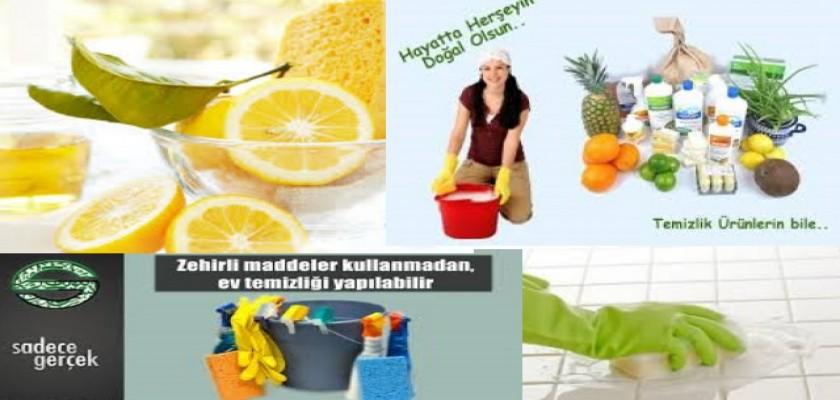 Ev Temizliğini Artık Doğal Temizleyicilerle Yapın